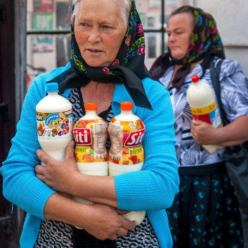 The milk seller, Maramures, Romania