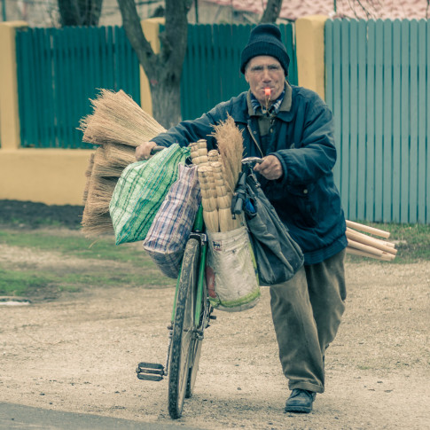 The broom maker, Romania