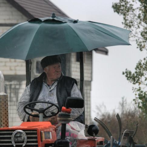Tractor with Umbrella, Transylvania