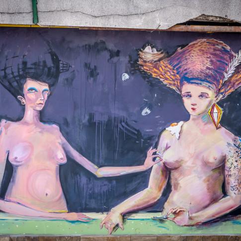 Graffiti, copy of Gabrielle d'Éstrées, Veliko Tarnovo