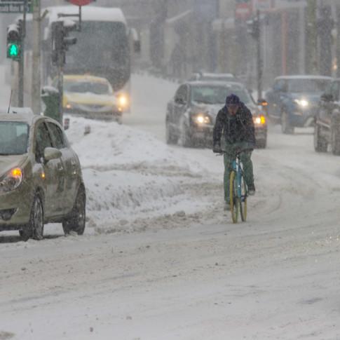 The Snow Biker, Bucharest, Romania