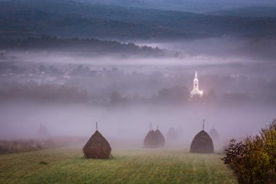 Morning in Maramrures, Romania
