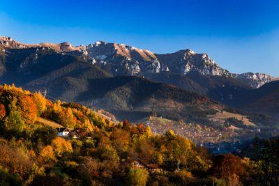 Autumn landscape in Transylvania, Romania